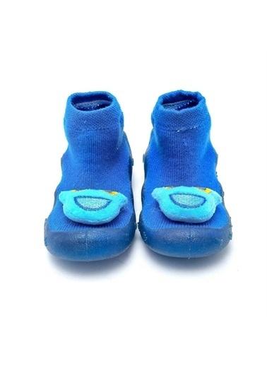 First Step Mavi 3 Boyutlu Köpekcik Figürlü Altı Kaymaz Silikon Çocuk Panduf Ayakkabı c-26-1 Lacivert